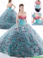 Gorgeous Beaded Brush Train Sweet 16 Dresses in Multi Color