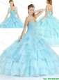 Latest Sweetheart Quinceanera Dresses with Ruffled Layers