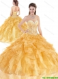 Newest Sweetheart Beading Quinceanera Gowns with Lace Up