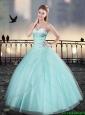 Elegant Aqua Blue Sweetheart Quinceanera Dresses with Beading