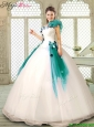 Perfect Appliques Multi Color Quinceanera Dresses with Ruffles