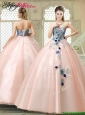 Perfect Strapless Quinceanera Gowns with Appliques and Embroidery