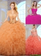 2016 Elegant Ball Gown Sweetheart Quinceanera Dresses with Ruffles