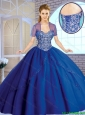 2016 Classical Beading Sweetheart Quinceanera Gowns in Royal Blue