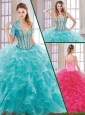 2016 Hot Sale Beading and Ruffles Quinceanera Dresses with Sweetheart