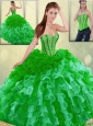 2016 Spring Gorgeous Multi Color Detachable Quinceanera Dresses with Brush Train