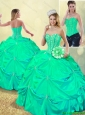 Beautiful Beading and Pick Ups Detachable Quinceanera Dresses with Lace Up