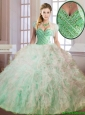 Cheap Beading and Ruffles Quinceanera Dresses in Multi Color