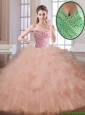 Classical Champagne Sweetheart Quinceanera Dresses with Beading