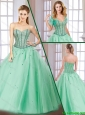 Latest Beading Lace Up Quinceanera Gowns with Sweetheart for 2016 Spring