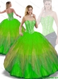 Perfect Ball Gown Multi Color Quinceanera Dresses with Beading