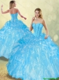 Perfect Ball Gown Sweet 16 Dresses with Beading and Ruffles