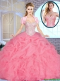 Summer Exclusive Sweetheart Quinceanera Dresses Beading and Ruffles