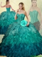 Luxurious Sweetheart Detachable Quinceanera Dresses with Beading