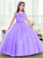 2015 fall Popular Sequins and Beading Mini Quinceanera Dresses in Lavender