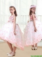 2016 New Arrivals High Low Flower Girl Dresses with Appliques