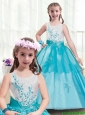 Lovely Appliques Scoop Flower Girl Dresses in Multi Color for 2016