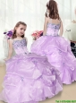 2016 Perfect Beading and Appliques Little Girl Pageant Gowns in Lavender