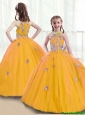 2016 Wonderful High Neck  Little Girl Pageant Dresses