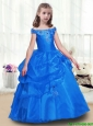 Elegant Off the Shoulder  Little Girl Pageant Dresseswith Beading
