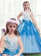 Modern Appliques Multi Color Little Girl Pageant Dresses for 2016