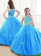 New Arrivals High Neck Little Girl Pageant Dresses with Beading for 2016