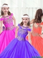 Beautiful Beading Ball Gown Little Girl Pageant Dresses for 2016