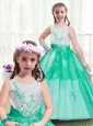 Modest Scoop New Style Little Girl Pageant Dresses with Appliques for 2016