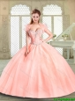2016 Pretty Sweetheart Beading Quinceanera Gowns for Spring