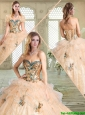 Lovely Sweetheart Quinceanera Gowns with Appliques and Ruffles