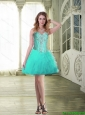 Modest 2015 Sweetheart Prom Dresses with Beading and Ruffles