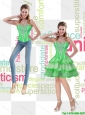 Spring Green Sweetheart Decent Detachable Prom Dresses with Beading for 2015