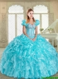 2016 Latest Sweetheart Quinceanera Gowns with Beading and Ruffles