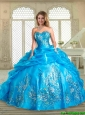 2016 Lovely Sweetheart Quinceanera Dresses with Appliques and Pick Ups