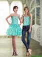 Suitable Sweetheart Short Detachable Prom Dress with Beading and Ruffles