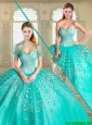 2016 Beautiful Sweetheart Quinceanera Gowns with Beading and Appliques