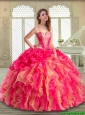 Gorgeous Sweetheart Quinceanera Dresses with Ruffles and Pick Ups