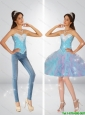 Perfect Multi Color Detachable Prom Dresses with Beading and Ruffles 135.52