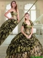 2016 Pretty Sweetheart Camo Quinceanera Dresses with Pick Ups