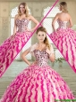 Spring Pretty Floor Length Sweet 16 Dresses with Beading and Ruffles