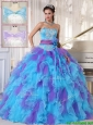 2016 Classical Strapless Beading and Appliques Quinceanera Gowns