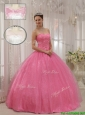 Cute Sweetheart Beading Quinceanera Gowns in Pink