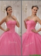 Luxurious Pink Sweetheart Quinceanera Dresses with Beading