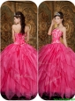 Perfect  Appliques and Ruffles Hot Pink Sweet 16 Dresses