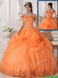 Perfect Off The Shoulder Quinceanera Dresses with Appliques and Hand Made Flowers