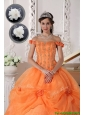 Pretty Off The Shoulder Quinceanera Dresses in Orange