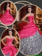 Clearance Ball Gown Sweetheart Quinceanera Dresses in Hot Pink