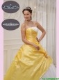 Discount Ball Gown Strapless Quinceanera Dresses with Beading