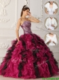 Popular 2016 Multi Color Quinceanera  Dresses  with Ruffles