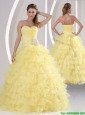 Popular  Appliques and Ruffled Layers Quinceaners Dresses